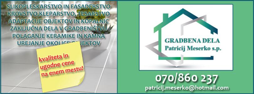 GRADBENA DELA Patricij Meserko s.p. zaključna dela gradbeništvo