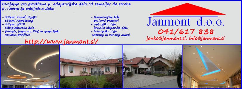 GRADNJE MAJ, gradbeništvo in storitve d.o.o. JANMONT zaključna dela knauf