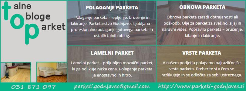 TOP talne obloge, parket, Mitja Godnjavec s.p.