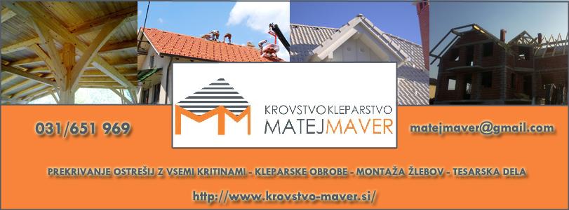 Krovstvo kleparstvo Matej Maver s.p.