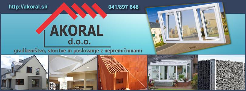 AKORAL, gradbeništvo, storitve in poslovanje z nepremičninami, d.o.o.