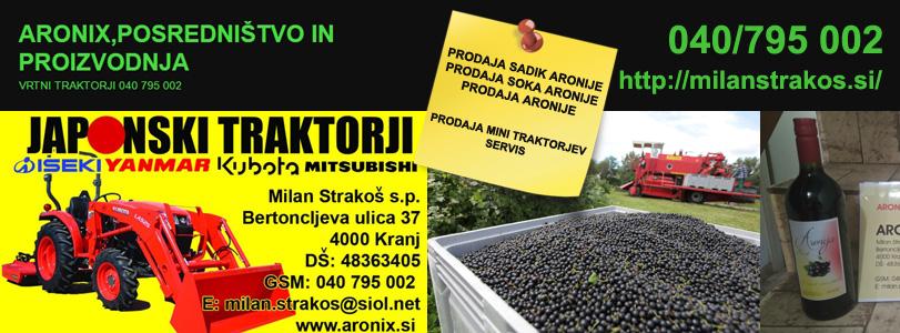 ARONIX, posredništvo in proizvodnja, Milan Strakoš s.p.
