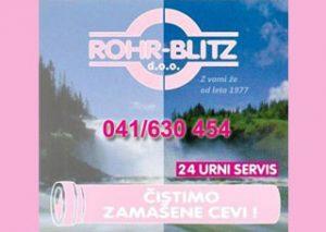 ROHR-BLITZ,logo,ciscenje kanalizacij