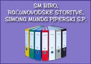 logo,SM BIRO, RAČUNOVODSKE STORITVE, SIMONA MUNDA PIPERSKI