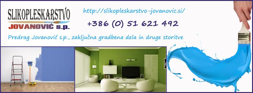 SLIKOPLESKARSTVO JOVANOVIĆ, Predrag Jovanović s.p., zaključna gradbena dela in druge storitve