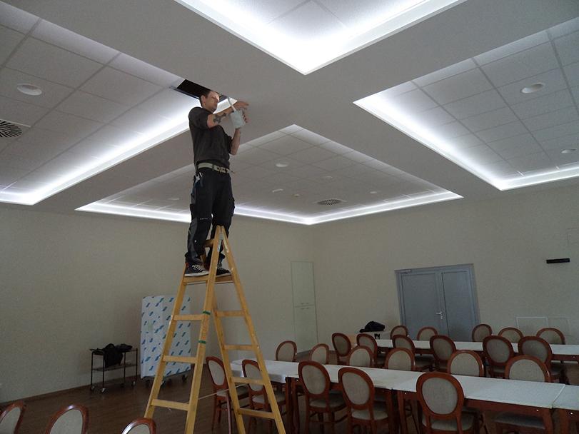 MGS PLUS, montažni gradbeni sistemi, d.o.o. montaža stropa v restavraciji