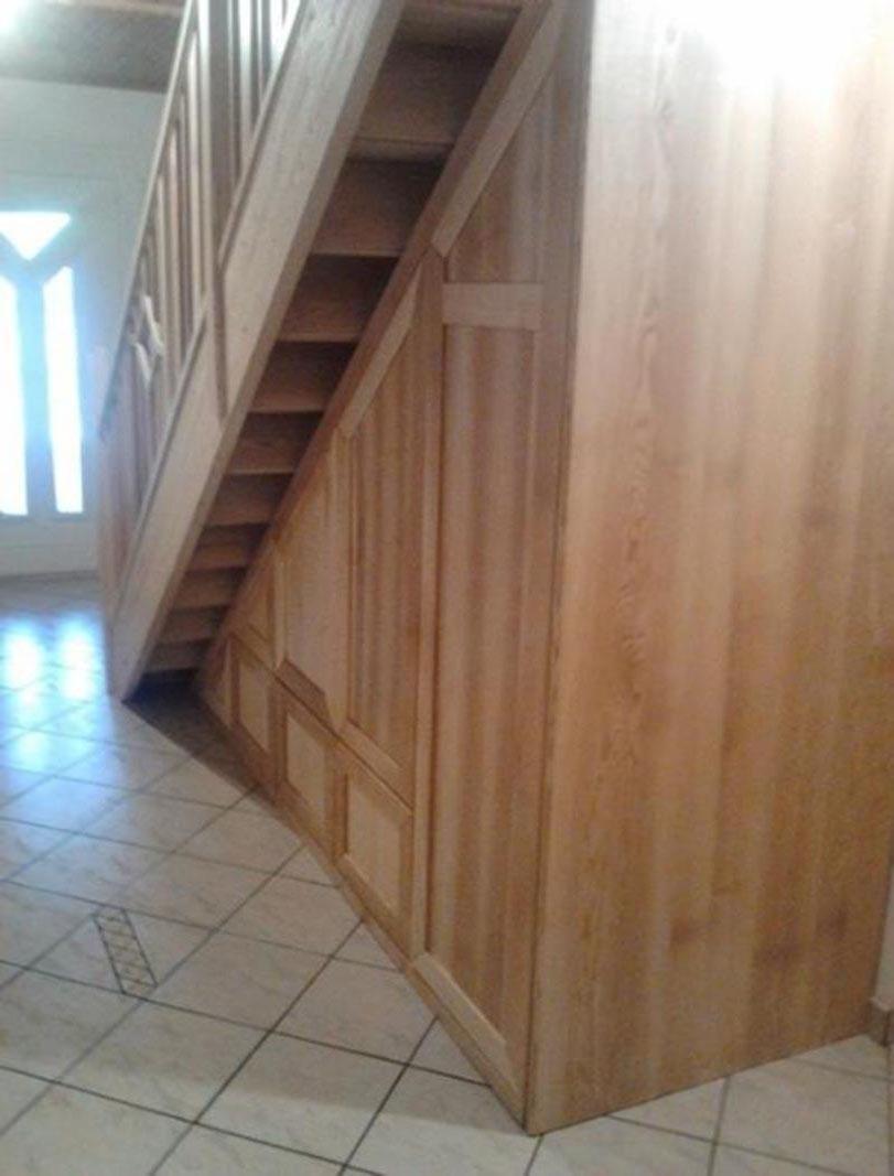 MTPONGI Franc Pongrac mizarstvo in tesarstvo s.p. lesena vgradna omara pod stopnicami