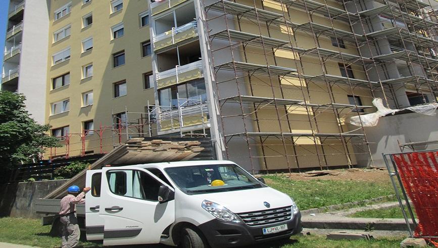MEDO 08, storitveno podjetje d.o.o. izdelava fasade na bloku