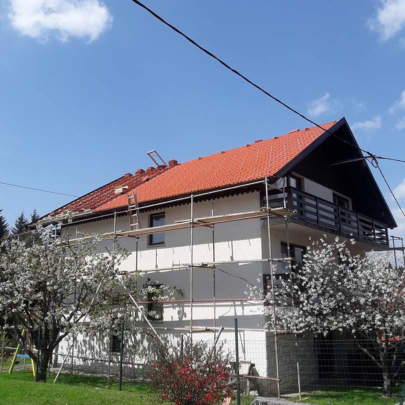 prekrivanje strehe Kleparstvo, krovstvo, Slobodan Milunović s.p.