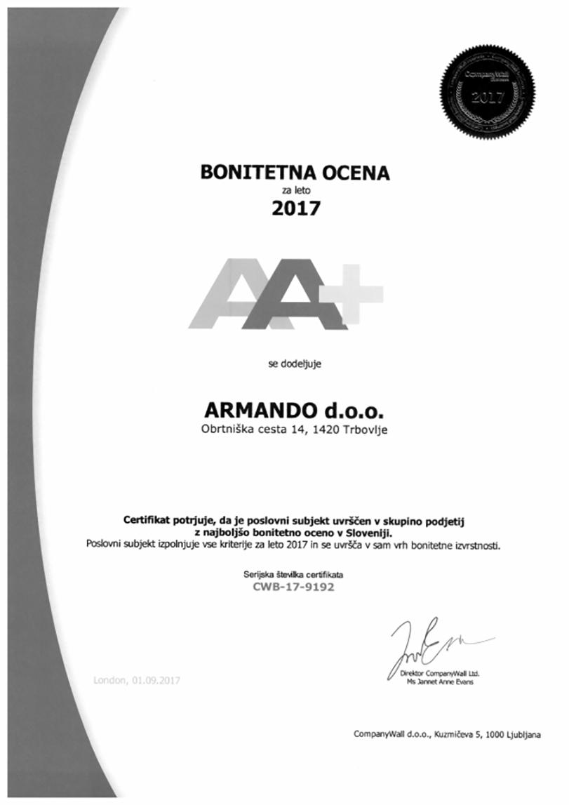Računovodski servis ARMANDO d.o.o. RAČUNOVODJA BONITETA