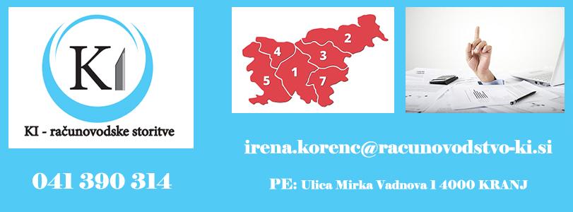 KI-Računovodske storitve, Irena Korenč s.p.