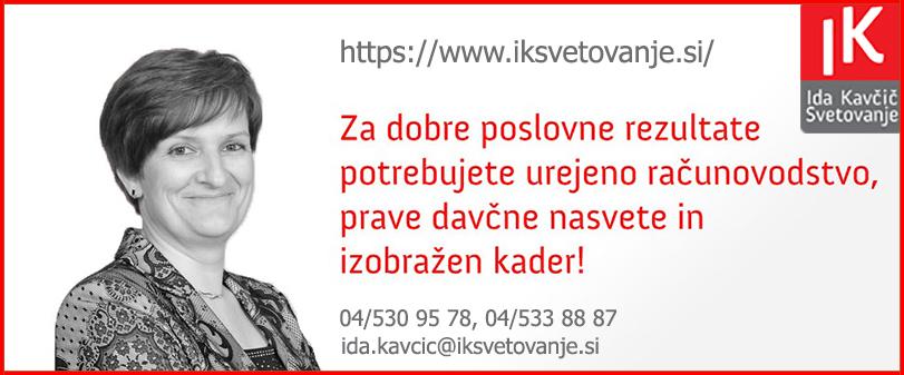 Davčno, računovodsko in poslovno svetovanje Ida Kavčič s.p. RAČUNOVODSTVO