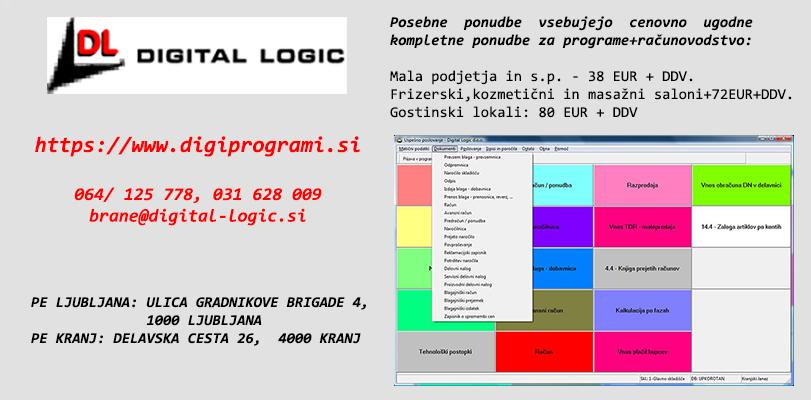 DIGITAL LOGIC D.O.O., PROGRAMI ZA PODJETJE, FIRMO