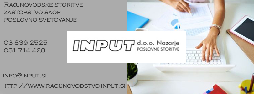 Računovodski servis, računovodja,Input d.o.o. Nazarje, POSLOVNE STORITVE