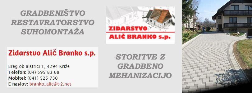 ALIČ BRANKO S.P. - ZIDARSTVO